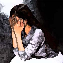 両手で顔を覆った女性 俺怖 [洒落怖・怖い話 まとめ]